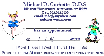 PA APPOINTMENT CARD 2
